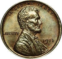 1918 D Wheat Penny Value